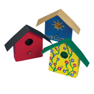 Mini Wood Birdhouse Magnet Craft Kit (makes 12)