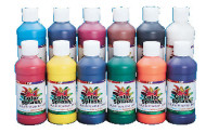 8-oz. Color Splash!® Liquid Tempera Paint, Assorted Colors  (pack of 12)