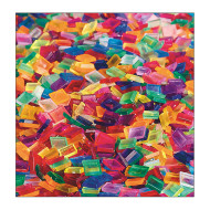Clear Multicolored Square Plastic Tile (bag of 1900)