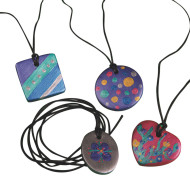 Bisque Pendant Necklaces Craft Kit (makes 24)