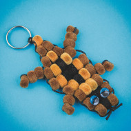 Fuzzy Chipmunk Pony Bead Craft Kit (makes 12)