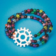 Gear and Beaded Bracelets Craft Kit (makes 24)