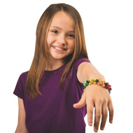 Bright Beaded Skull Bracelet Craft Kit (makes 12)