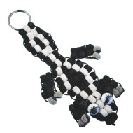 Fuzzy Skunk Pony Bead Craft Kit (makes 12)