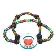 "I ""Love"" Camp Bracelet Craft Kit (makes 24)"