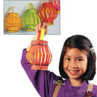 EduCraft® Neon Paper Lanterns Craft Kits  (makes 40)