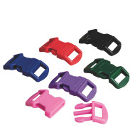 Parachute Cord Buckle Set, Assorted Colors (pack of 36)