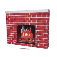 Corobuff® Cardboard Fireplace Decoration