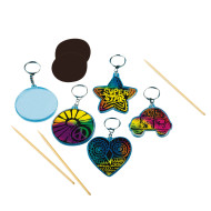 Scratch Art® Key Chains (pack of 48)