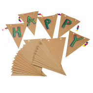 Kraft Paper Pennants (pack of 50)