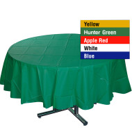 "84"" Round Plastic Table Cover"