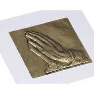 Praying Hands Raised Foil Plaque Craft Kit (pack of 53)