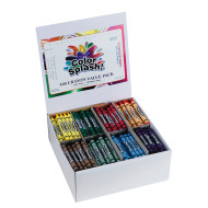 Color Splash!® Crayons PlusPack - 8 Colors  (box of 400)