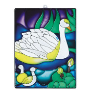 Stain-A-Frame Set - Swan Scene   (pack of 12)