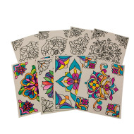 Color-Your-Own Stained Glass Window Clings (pack of 24)