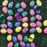 "2-3/8"" Printed Easter Eggs  (pack of 70)"
