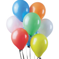 "Standard Color Balloon Assortment - 9"" ( of 100)"
