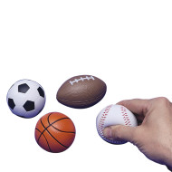 Sports Squeeze Balls  (pack of 12)