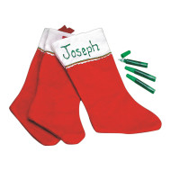 Glitter-A-Name Stocking (pack of 12)