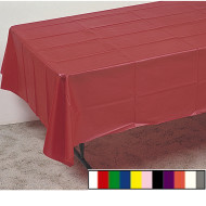 "Plastic Table Cover - 108""x54""  (pack of 12)"