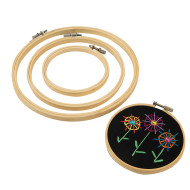 Wood Embroidery Hoops (pack of 6)