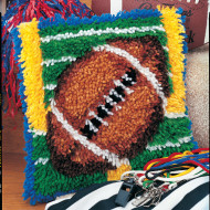football latch hook kit