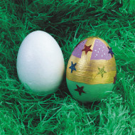 "3"" Craft Foam Egg Shapes (pack of 12)"