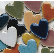 "1"" Heart Shaped Tile, 1-lb."