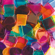 Assorted Large Plastic Mosaic Pieces, 1lb.
