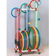 Jump Rope and Hoop Rack