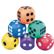 "Spectrum™ 4"" Rubber Dice (set of 6)"
