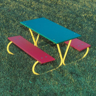 Kids Picnic Table, Multicolored
