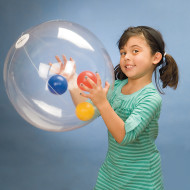 BeachBalzeez™ Clear Beach Ball, 24""