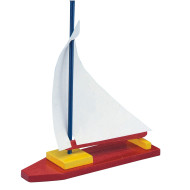 Unfinished Wooden Sailboat, Unassembled (pack of 12)