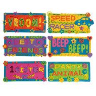 Foam License Plate Shapes (pack of 48)