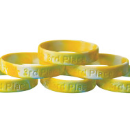 3rd Place Silicone Bracelet  (pack of 24)