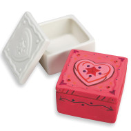Color-Me™ Ceramic Bisque Trinket Box (makes 12)