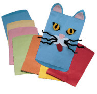 Colored Kraft Paper Bags  (pack of 28)