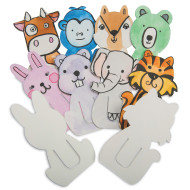 Color-Me™ Animal Clip Bookmarks (makes 24)