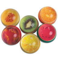 Fruity Design High Bounce Balls (pack of 12)