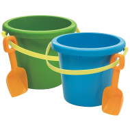 "10"" Jumbo Plastic Pail and Shovel  (pack of 6)"