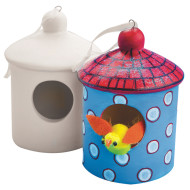 Color-Me™ Ceramic Bisque Birdhouse (makes 12)