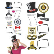 New Year Photo Fun Signs (set of 12)