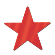 Decorative Foil Star, Red (pack of 24)