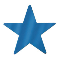 Decorative Foil Star, Blue (pack of 24)