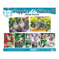 Puppies and Kittens 12-Puzzle Multipack