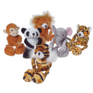 Floppy Leg Wild Plush Animals (pack of 12)