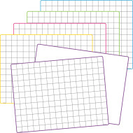 Math Grid Dry Erase Boards (set of 10)