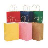 Kraft Cub Gift Bags Assorted Colors  (pack of 12)