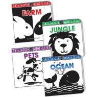 Black and White Baby Board Book Set (set of 4)